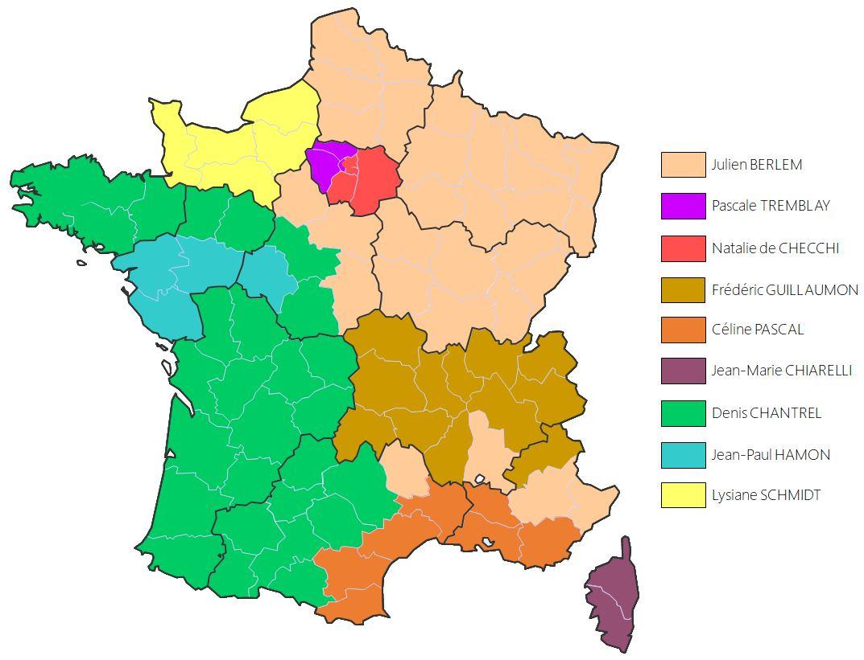 Carte des commerciaux - BERGAN