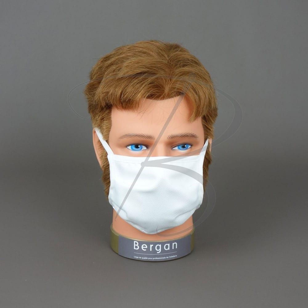 Masque barrière Textile - 25 lavages - Bergan