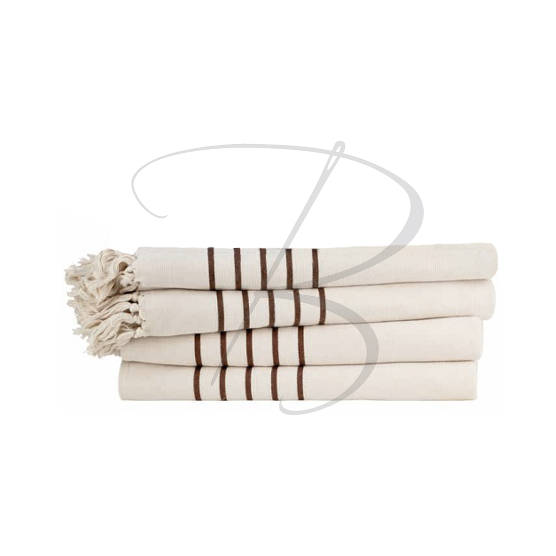 linge-spa-fouta-marron-frange